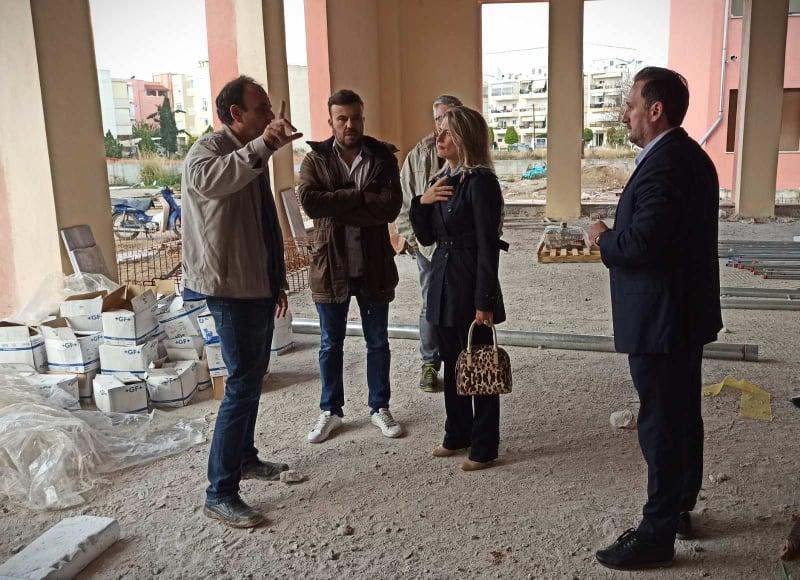 Ο Δήμαρχος Αλεξανδρούπολης στον χώρο ανέγερσης των σχολείων περιοχής ΚΕΓΕ