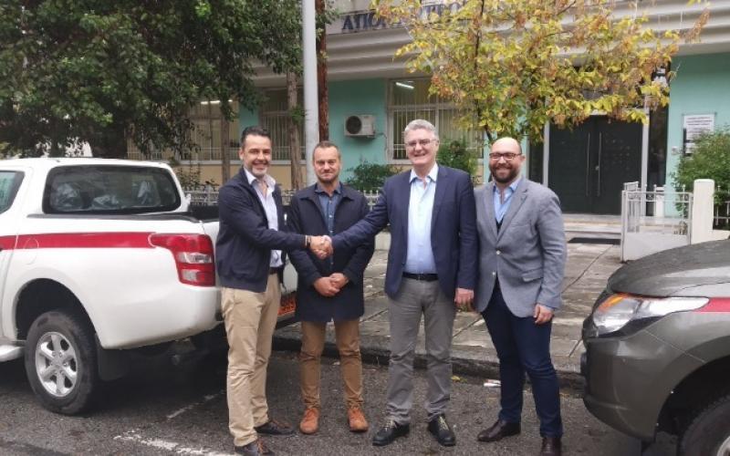 10 οχήματα δώρισε ο ΤΑΡ για τις ανάγκες των δασικών υπηρεσιών και στον Έβρο