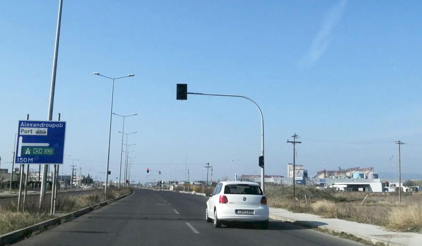 Τι αλλάζει στα φανάρια του δρόμου Αλεξανδρούπολη - Αεροδρόμιο