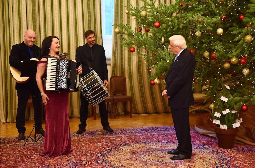 Tη Ζωή Τηγανούρια υποδέχτηκε ο Πρόεδρος Δημοκρατίας Προκόπης Παυλόπουλος
