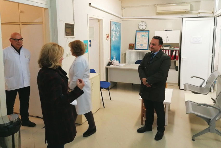 Ο Σταύρος Κελέτσης στον ΕΦΚΑ και στο Κέντρο Υγείας Αλεξανδρούπολης