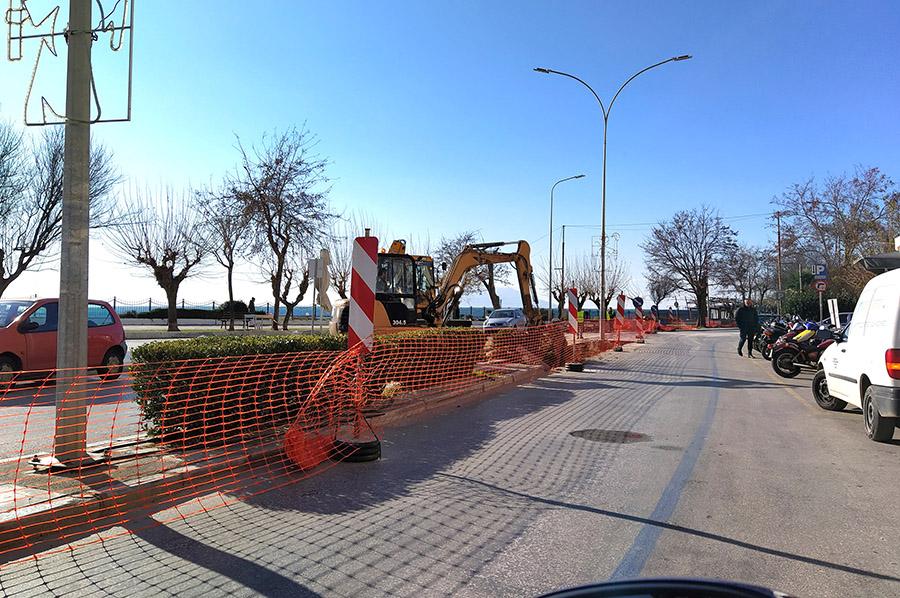Ξεκίνησαν ξανά τα έργα στην παραλιακή της Αλεξανδρούπολης