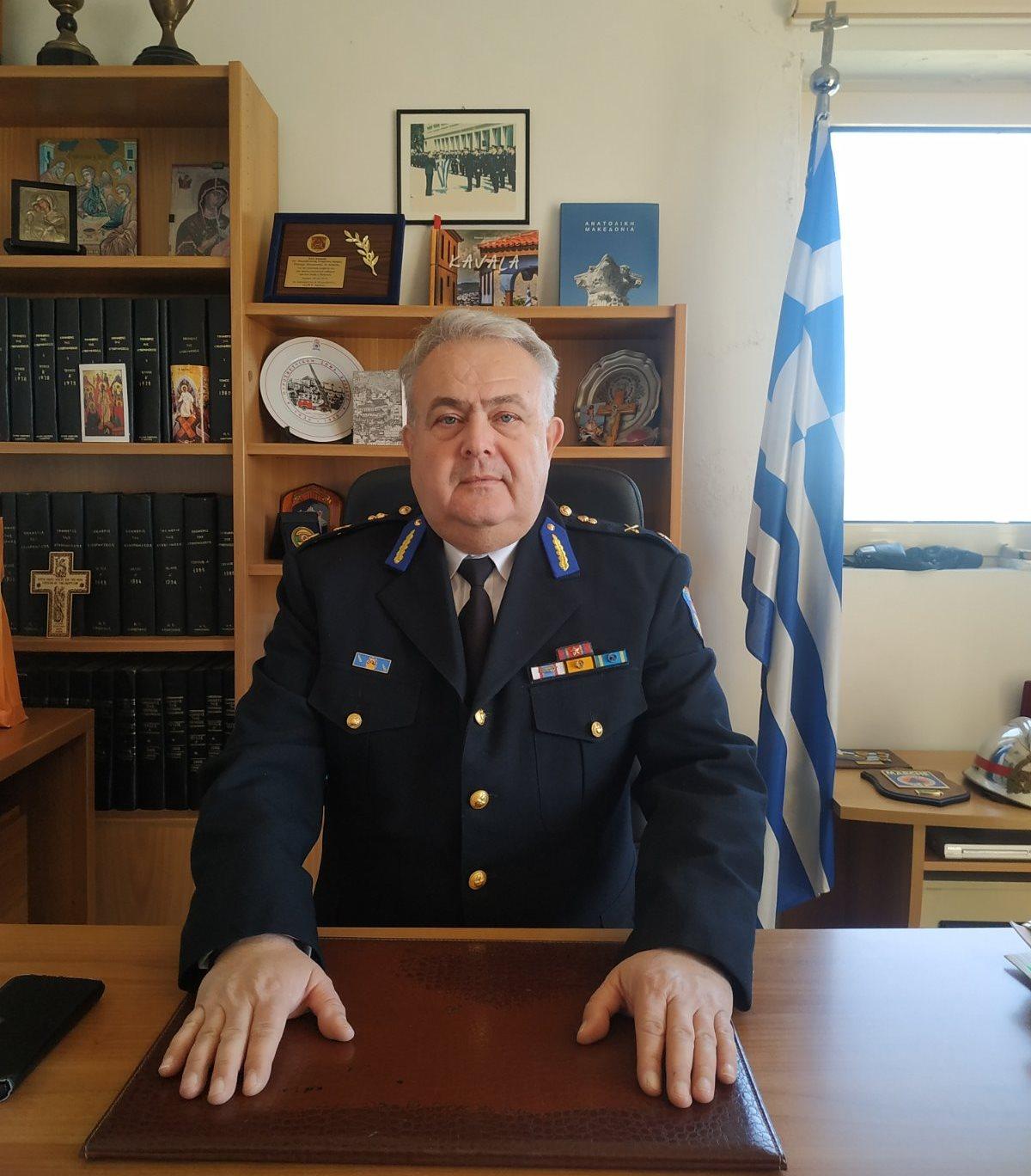 Ο Αρχιπύραρχος Κωνσταντίνος Δαδούδης στην Διοίκηση της Περιφερειακής Πυροσβεστικής ΑΜΘ