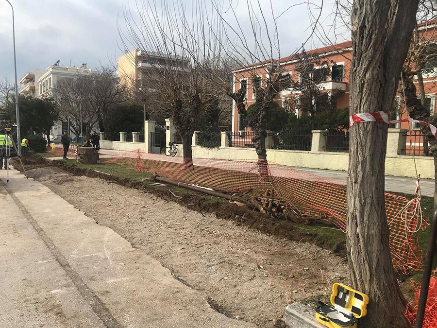 Μειώνουν πράσινο, κόβουν δέντρα μπροστά στο Δικαστήριο της Αλεξανδρούπολης