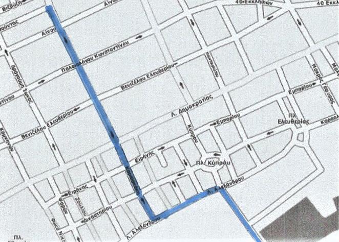 Νέες κυκλοφοριακές ρυθμίσεις στο κέντρο της Αλεξανδρούπολης