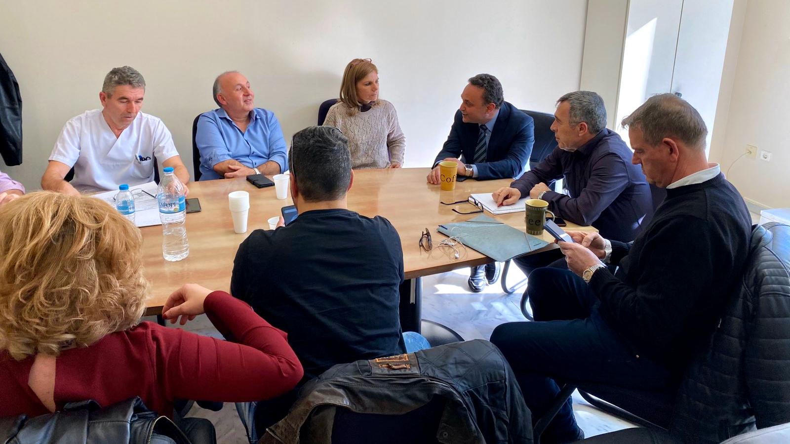 Συνάντηση Κελέτση με διοίκηση και εργαζόμενους του Νοσοκομείου Αλεξανδρούπολης