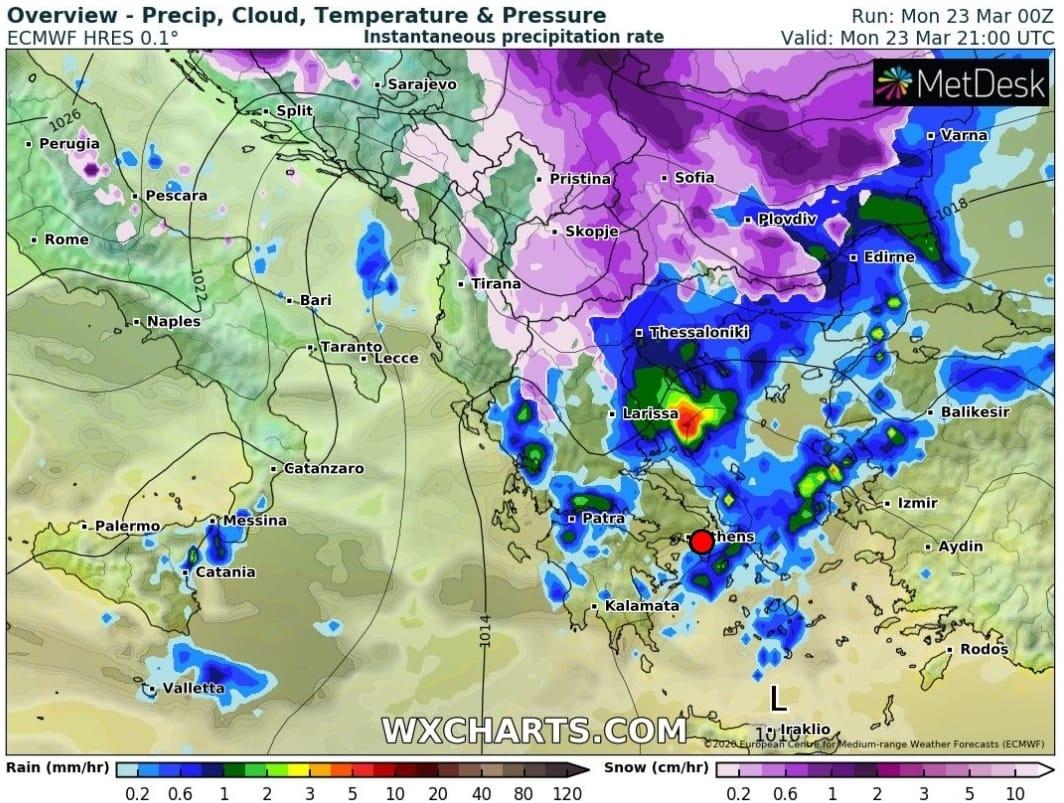 Καιρικό σκηνικό με βροχές και κρύο σε Έβρο και Θράκη