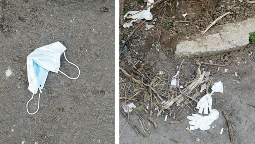 Αλεξανδρούπολη: Μάσκες και γάντια ατάκτως ερριμμένα παντού…
