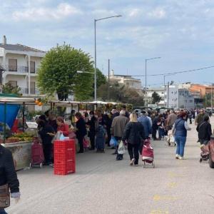 Αλεξανδρούπολη:Χωρίς παραγωγούς από νομό Ξάνθης και Ίασμο η λαϊκή της Πέμπτης