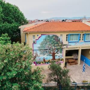Μία υπέροχη τοιχογραφία κοσμεί το 2ο Γυμνάσιο Αλεξανδρούπολης
