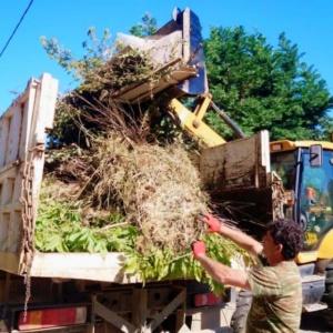 Ογκώδη αντικείμενα απομακρύνουν συνεργεία του Δήμου Αλεξανδρούπολης
