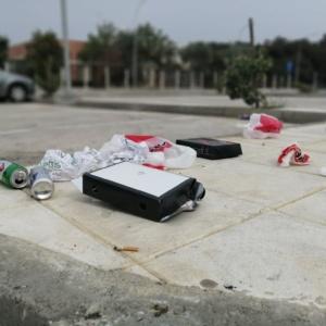 Μία μικρή χωματερή (και) στο parking του Εγνατία (photos)