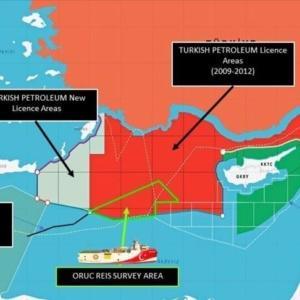 Νυχτερινή πρόκληση της Τουρκίας : Εξέδωσε νέο χάρτη ερευνών και στα παράλια της Κρήτης