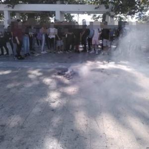 Αλεξανδρούπολη: Διαμαρτυρία μαθητών κατά της μάσκας